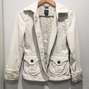 Cream white GAP jacket